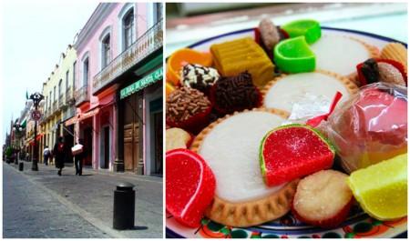 Calle de los dulces típicos de Puebla
