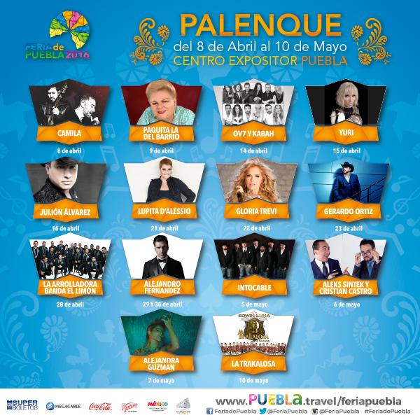 Feria de Puebla 2016 - Cartelera del Palenque