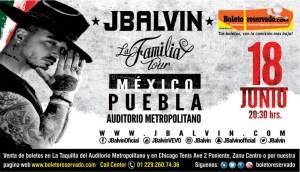 JBALVIN en el Auditorio Metropolitano Puebla