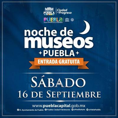 La Noche de Museos en Puebla se une a los festejos patrios