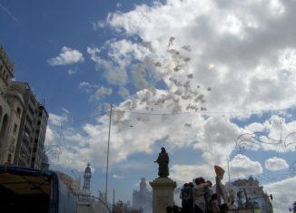Máscleta en Plaza del Ayuntamiento de Valencia