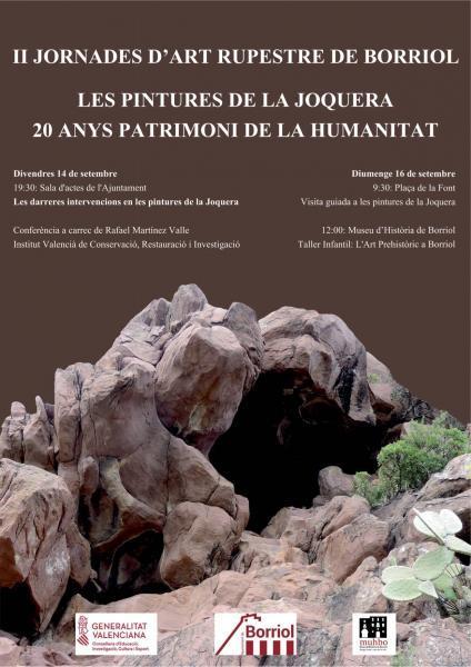 Cartel de II Jornadas de Arte Rupestre a Borriol
