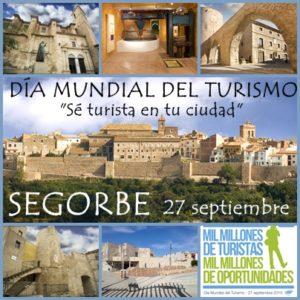 Cartel día internacional del turismo Sergorbe 2018