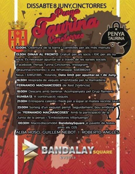 Cartel Fiesta Cinctorres