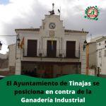 El Ayuntamiento de Tinajas se posiciona en contra de la Ganadería Industrial
