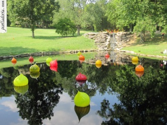 Chihuly floating glass orb display at Cheekwood - Nashville, TN