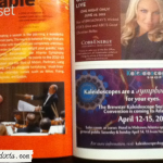 Here is a picture of the ad as it appeared in the program, underneath Kristin Chenoweth