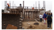 Puente Rundbrief 2013 Bau des Zentrums Besuch Rauber