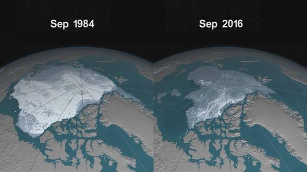 Evolución en el deshielo de los casquetes polares