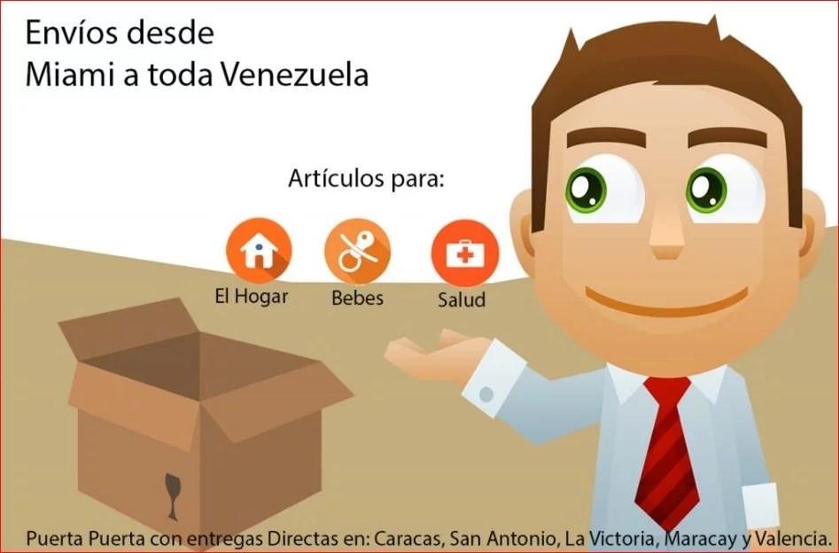 Envios Venezuela,Envios Puerta Puerta Miami Valencia