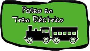 Paseo en tren eléctrico durante el cumpleaños
