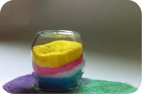 Taller de sal de colores en el Parque de los Toruños
