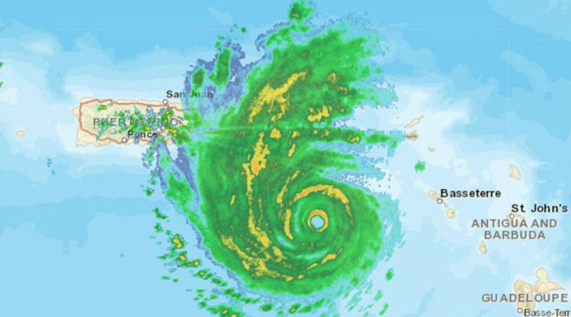El huracán María mantiene sus vientos a 175 millas por hora