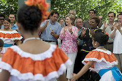 Hillary catches the island beat in Cabo Rojo.