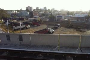 Construction of CVS at Tren Urbano/Sagrado Corazon
