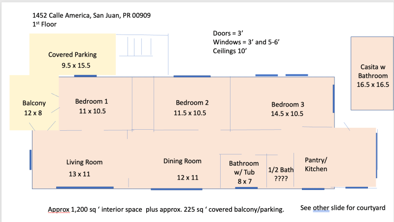 1st Floor - for layout and approximate dimensions only.