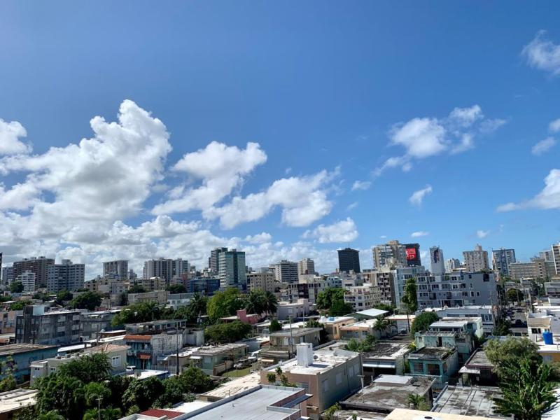 View to the west and Condado.
