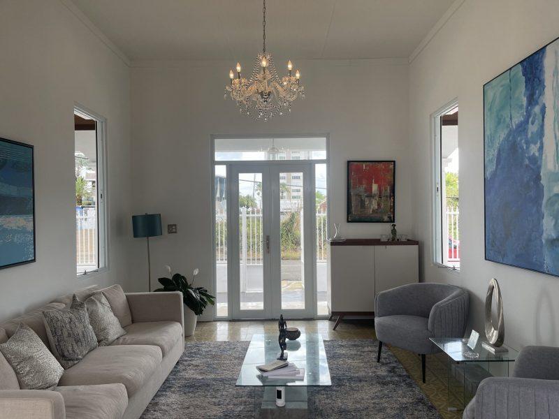 Living Room with original floor