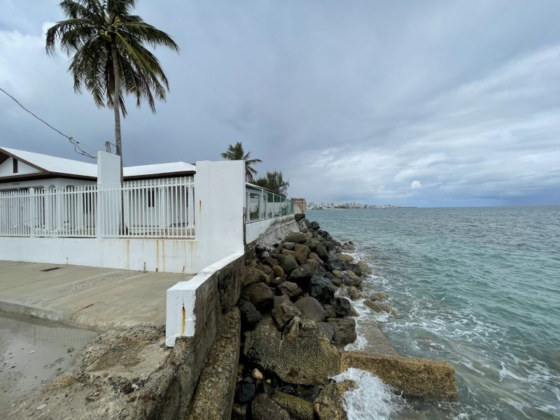 Sea Wall with view to Condado