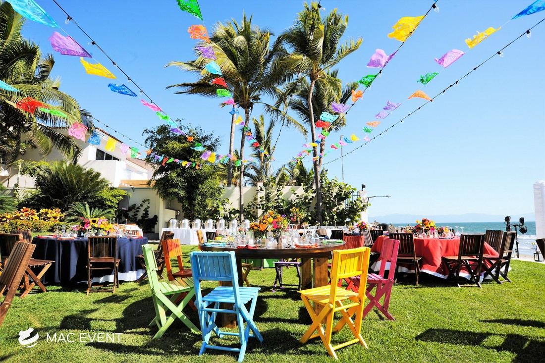 Blue Chairs Puerto Vallarta Mexican Chair Wedding Rentals Event Planning Puerto Vallarta Wed