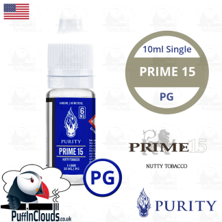 Purity Prime 15 E-Liquid PG 10ml | Puffin Clouds UK