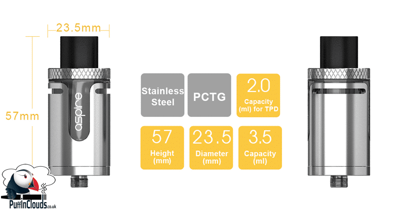 Aspire Cleito EXO Tank - Features | Puffin Clouds UK