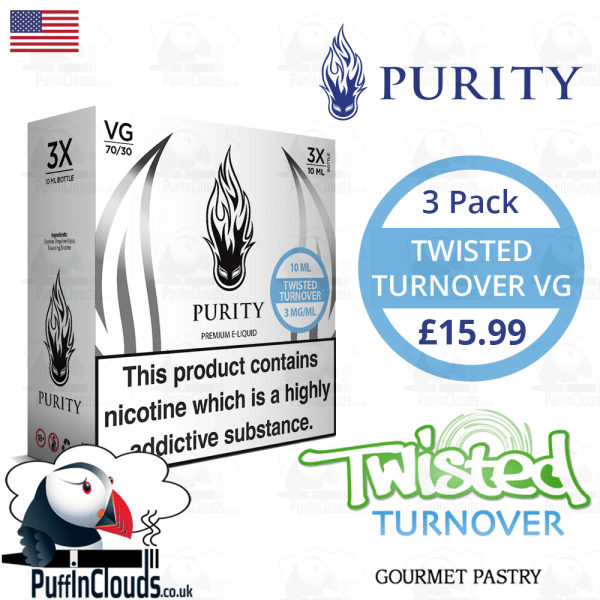 Purity Twisted Turnover High VG E-Liquid | Puffin Clouds UK
