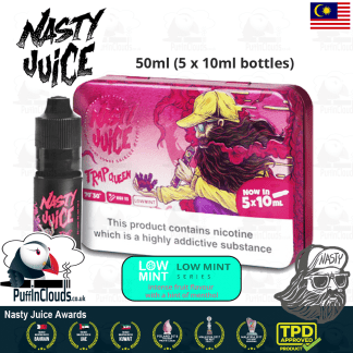 Nasty Juice Trap Queen E-Liquid (Yummy Fruity Series) - Strawberry eJuice with just a hint of mint