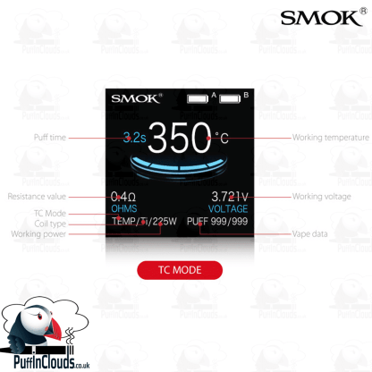 SMOK ProColor Kit (UK / EU Edition) - Colour OLED Screen   Puffin Clouds UK