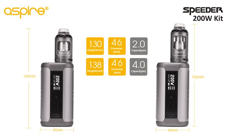 Aspire Speeder Kit 200W (UK Edition) | Puffin Clouds UK