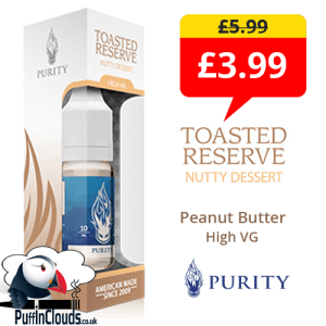 Purity Toasted Reserve High VG E-Liquid Special Offer | Puffin Clouds UK