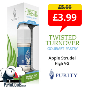 Purity Twisted Turnover High VG E-Liquid Special Offer | Puffin Clouds UK