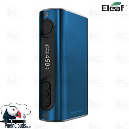 Eleaf iStick Power 80W Mod - Brushed Blue   Puffin Clouds UK