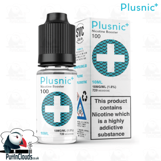PlusNic Max VG Nicotine Booster 18mg 100% VG | Puffin Clouds UK