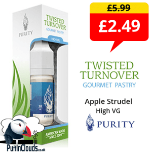Purity Twisted Turnover High VG 6mg E-Liquid (10ml Single Bottle) | Puffin Clouds UK