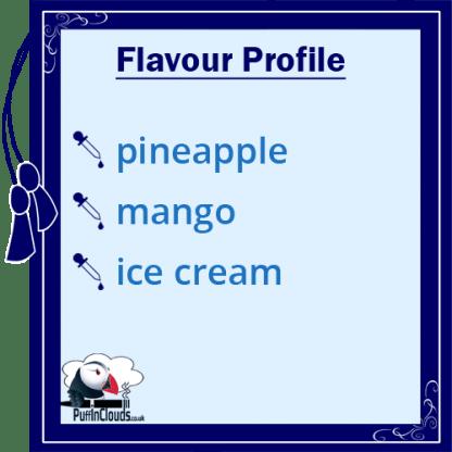 Ohm Brew Pineapple & Mango Ice Cream Nic Salt E-Liquid Flavour | Puffin Clouds UK