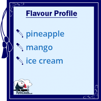 Ohm Brew Pineapple & Mango Ice Cream Nic Salt E-Liquid Flavour | Puffin Clouds UK