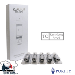 Purity Reactor Coils - Stainless Steel (5 Pack) | Puffin Clouds UK