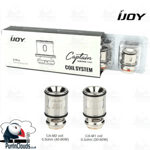 IJOY Captain Mini Coils (3 Pack) CA-M1 and CA-M2 | Puffin Clouds UK