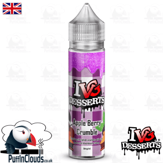 IVG Apple Berry Crumble Short Fill E-Liquid 50ml | Puffin Clouds UK