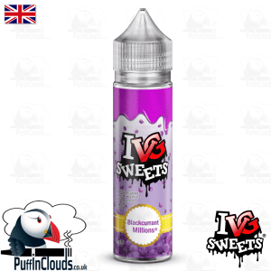 IVG Blackcurrant Millions Short Fill E-Liquid 50ml | Puffin Clouds UK