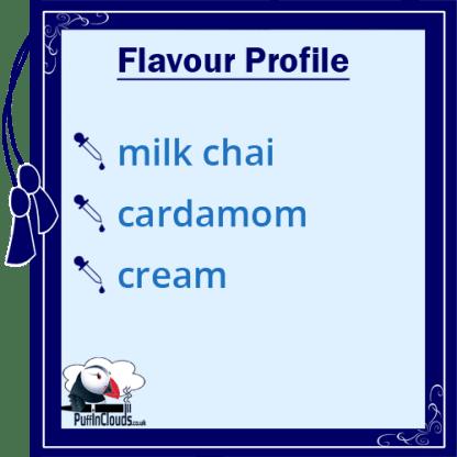 IVG Cardamom Chai Latte Short Fill E-Liquid 50ml Flavour Profile | Puffin Clouds UK