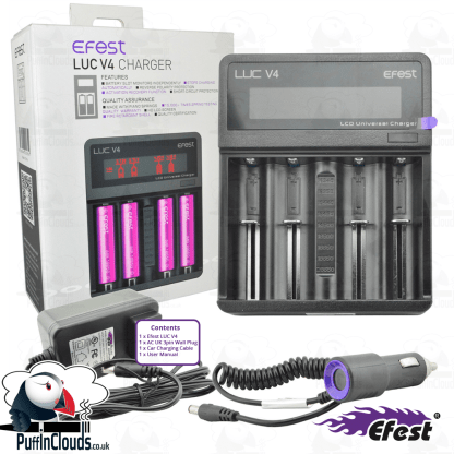 Efest LUC V4 Vaping Battery Charger | Puffin Clouds UK
