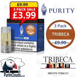 Purity Tribeca Gusto Mini Pods (3 x 2ml) | Puffin Clouds UK