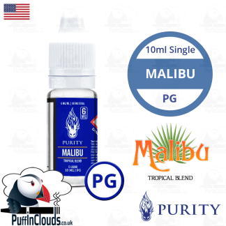 Purity Malibu E-Liquid PG 10ml | Puffin Clouds UK