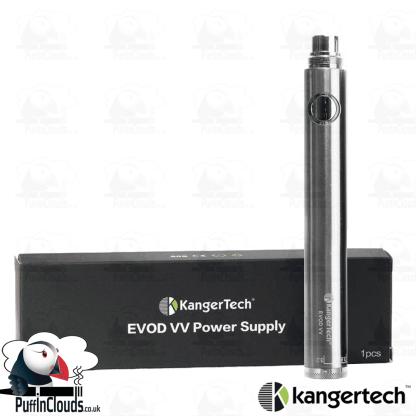 KangerTech EVOD VV 1000mAh Twist Battery - Silver | Puffin Clouds UK