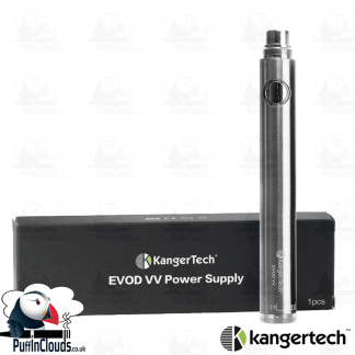 KangerTech EVOD VV 1000mAh Twist Battery - Silver | Puffin Clouds UK
