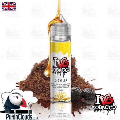 IVG Gold Tobacco Short Fill E-Liquid 50ml   Puffin Clouds UK
