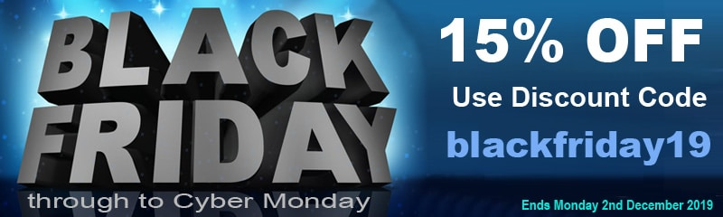 Black Friday 2019 - 15% Discount on Everything!   Puffin Clouds UK
