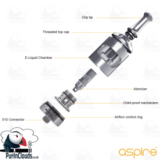 Aspire Nautilus 2S Tank | Puffin Clouds UK